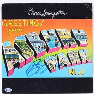 "Bruce Springsteen Signed ""Greetings from Ashbury Park"" Vinyl Record"