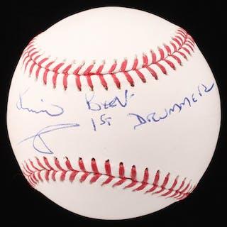 """Pete Best Signed OML Baseball Inscribed """"Beatles- 1ST DRUMMER"""" (Beckett COA)"""