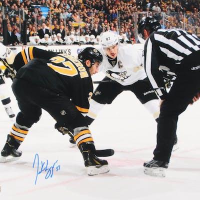 Patrice Bergeron Signed Boston Bruins 16x20 Photo (Bergeron Hologram)