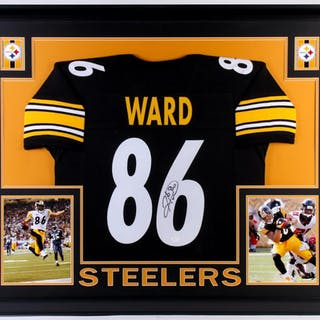 differently a94d5 39c3f Hines Ward Signed Pittsburgh Steelers 35x43 Custom Framed ...