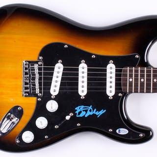 "Bo Diddley Signed 39"" Electric Guitar (Beckett COA)"