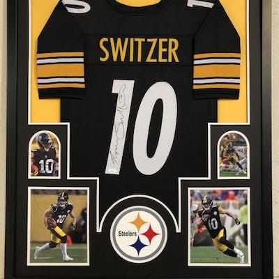 the latest b5a55 4afa5 Ryan Switzer Signed Pittsburgh Steelers 34x42 Custom Framed ...