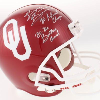 Brian Bosworth Signed Oklahoma Sooners Full-Size Helmet Inscribed