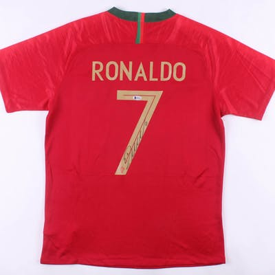 quality design 65cf6 70943 Cristiano Ronaldo Signed Portugal Nike Jersey (Beckett COA ...
