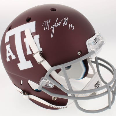 Myles Garrett Signed Texas A&M Aggies Full-Size Custom Matte Maroon