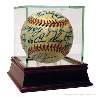 1952 Cardinals & Yankees ONL Baseball Signed by (29) with Mickey Mantle