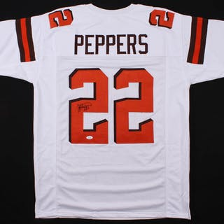 reputable site 68675 15a64 Jabrill Peppers Signed Cleveland Browns Jersey (JSA COA ...