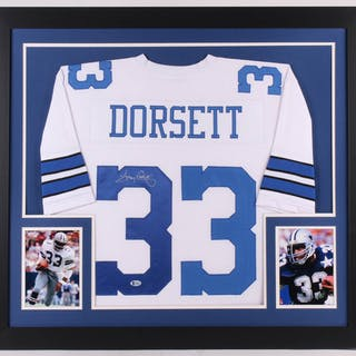 brand new 113b8 3b0c7 Tony Dorsett Signed Dallas Cowboys 31x35 Custom Framed ...