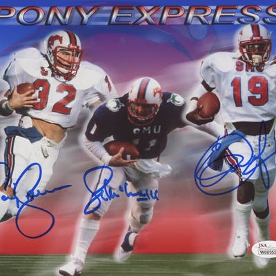 newest 13f80 3a80d Eric Dickerson, Craig James & Lance McIlhenny Signed SMU ...