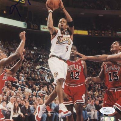Allen Iverson Signed Philadelphia 76ers 8x10 Photo (JSA COA)