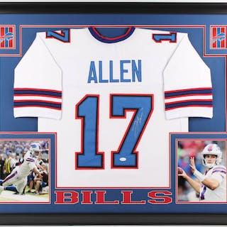 newest fe688 d72d0 Josh Allen Signed Buffalo Bills 35x43 Custom Framed Jersey ...