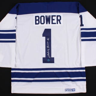 new concept ded74 b1879 Johnny Bower Signed Toronto Maple Leafs CCM Jersey (AJ ...