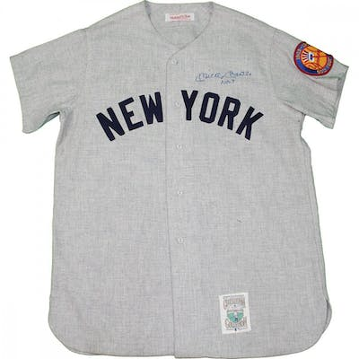online store 9eb3c a164c Mickey Mantle Signed New York Yankees Mitchell & Ness Jersey ...