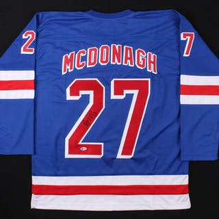 best loved 9443a f3834 Ryan McDonagh Signed New York Rangers Captain Jersey ...