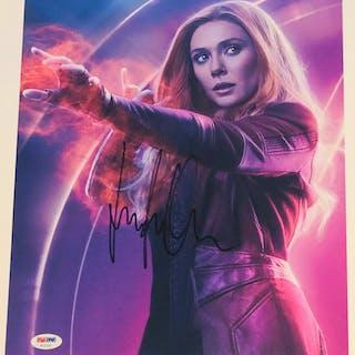 "Elizabeth Olsen Signed ""Avengers"" 11x14 Photo (PSA COA)"