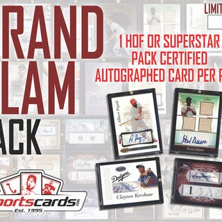 """""""GRAND SLAM"""" Hall of Fame & Super Stars ONLY Mystery Autograph Pack!"""