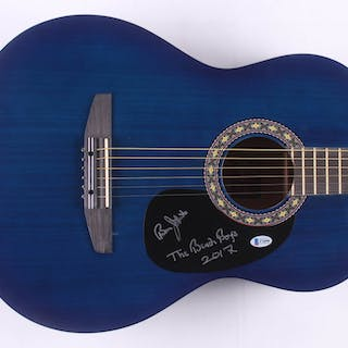 """Bruce Johnston Signed 38"""" Rogue Acoustic Guitar Inscribed """"The Beach"""