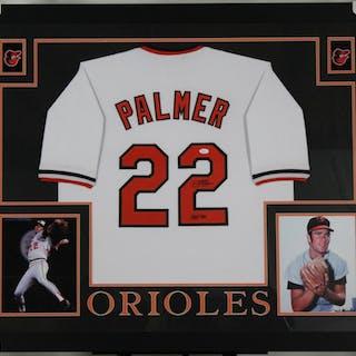 7a6b7345b Jim Palmer Signed Baltimore Orioles 35x43 Custom Framed Jersey Inscribed –  Current sales – Barnebys.com