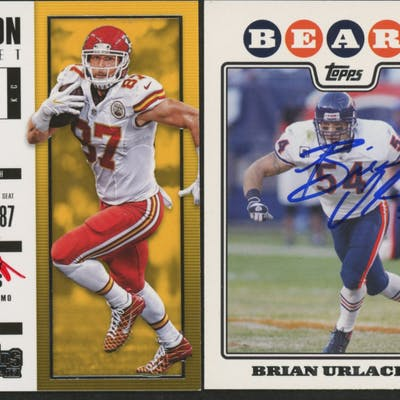 new concept e480e 271b5 Lot of (2) Signed Football Cards with (1) Brian Urlacher ...