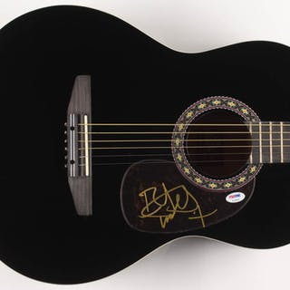 "Bret Michaels Signed 38"" Rogue Acoustic Guitar (PSA COA)"