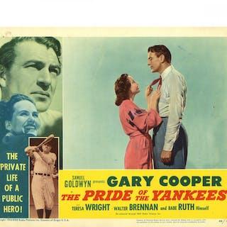 "1942 Gary Cooper ""Pride of the Yankees"" 11x14 Lobby Card"