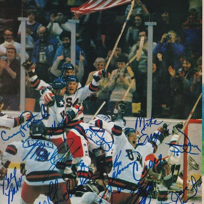 1980 Olympic Team USA Sports Illustrated Magazine Cover Team-Signed