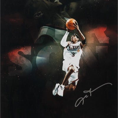 """Allen Iverson Signed Philadelphia 76ers """"Pound for Pound"""" 16x20 Limited"""