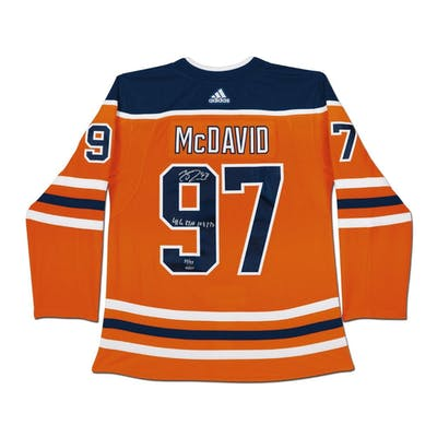 Connor McDavid Signed Edmonton Oilers Limited Edition Jersey Inscribed