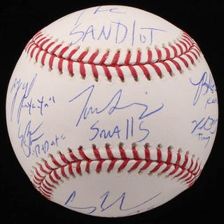 The Sandlot OML Baseball Cast-Signed by (6) With Tom Guiry