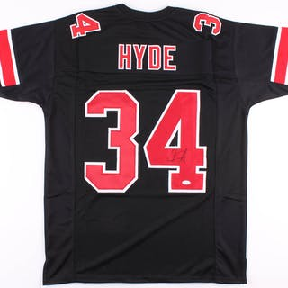 huge discount 97793 91bb2 Carlos Hyde Signed Ohio State Buckeyes Jersey (JSA COA ...