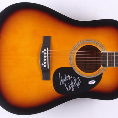 "Gordon Lightfoot Signed 41"" Acoustic Guitar (PSA COA)"