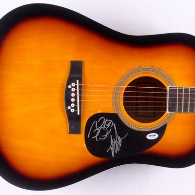 "John Osborne & T.J. Osborne Signed 41"" Huntington Acoustic Guitar"