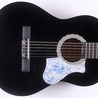"""Travis Barker Signed 40"""" Acoustic Guitar (PSA Hologram)"""