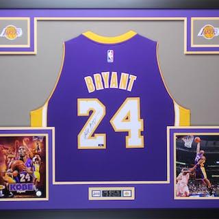 6db9bdfacd1 Kobe Bryant Signed Los Angeles Lakers 35x43 Custom Framed Jersey (Panini ...