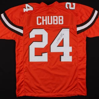 new product 638fd e25c1 Nick Chubb Signed Cleveland Browns Jersey (JSA COA ...