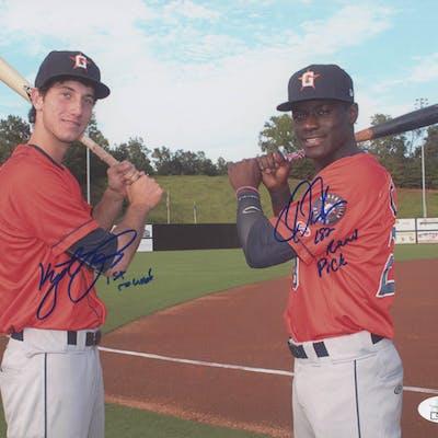 Kyle Tucker & Daz Cameron Signed Houston Astros 8x10 Photo Inscribed