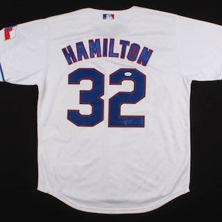 brand new 58ebe 35bd4 Josh Hamilton Signed Texas Rangers Jersey (JSA LOA ...