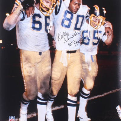 """Kellen Winslow Signed San Diego Chargers 16x20 Photo Inscribed """"HOF"""