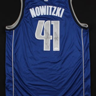 5e5836a7 Dirk Nowitzki & Luka Doncic Signed Dallas Mavericks