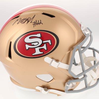 Matt Breida Signed San Francisco 49ers Full-Size Speed Helmet (Beckett COA)