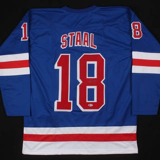 separation shoes 69d2d 61deb Marc Staal Signed New York Rangers Jersey (Beckett COA ...