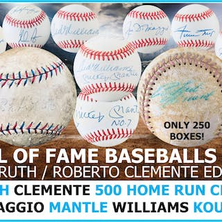 Mystery Ink Hall of Fame Baseball Babe Ruth / Clemente Mystery Box