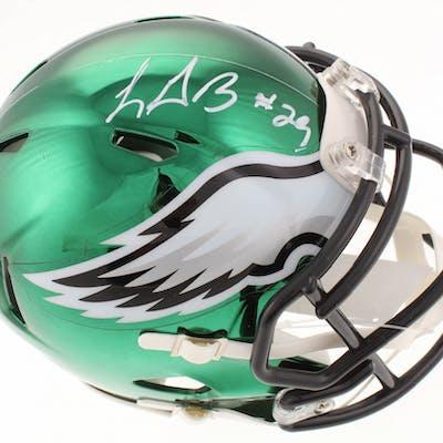 LeGarrette Blount Signed Philadelphia Eagles Chrome Speed Mini-Helmet