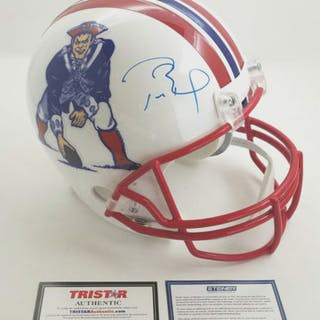 Tom Brady Signed New England Patriots Limited Edition Throwback Full-Size