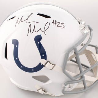Marlon Mack Signed Indianapolis Colts Full-Size Speed Helmet (Schwartz