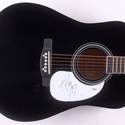"Post Malone Signed 38"" Acoustic Guitar (PSA COA)"