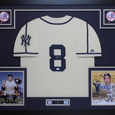 finest selection 58a30 af1de Yogi Berra Signed New York Yankees 35x43 Custom Framed ...