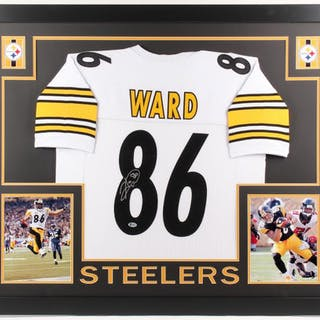 differently 8b129 f97e0 Hines Ward Signed Pittsburgh Steelers 35x43 Custom Framed ...