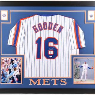 7ee053f8843 Dwight Gooden Signed New York Mets 35x43 Custom Framed Jersey (JSA COA) – Current  sales – Barnebys.com