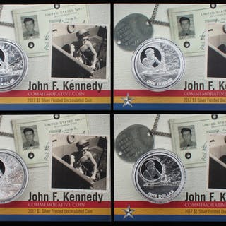 Lot of (4) 2017 John F. Kennedy Silver Dollar Commemorative Coin